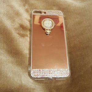 Accessories - Diamonds Ring Holder Mirror iPhone 7/8 Plus Case